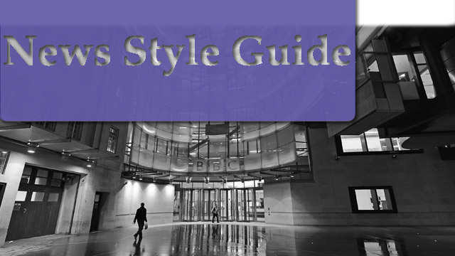 BBC News style guide now available to all