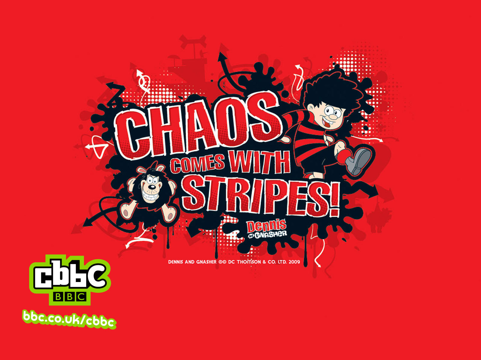BBC - CBBC - Dennis and Gnasher Chaos Wallpaper