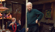 Bill Nighy and Richard Curtis on the set of the film.