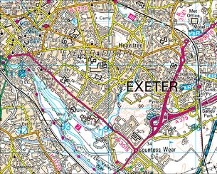 BBC Domesday Reloaded AN AERIAL VIEW OF EXETER from 1986