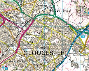 BBC Domesday Reloaded Essential BuildingsGloucester from 1986