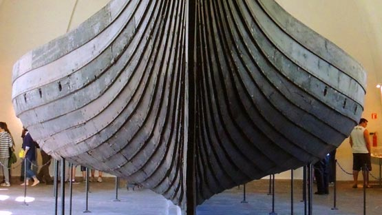 The Hull Of Oseberg Viking Ship