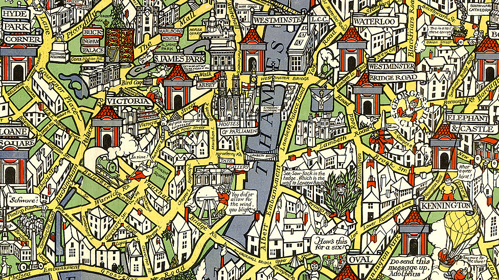 London Town Map.Bbc News Wonderground Underground Macdonald Gill S Maps
