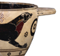 This cup was made at Corinth in the 600s BC. It shows a hunting dog.