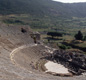 This is the Greek theatre at Ephesus (now in Turkey). Notice the bowl shape, where more than 20,000 people could sit to watch plays.