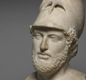 A marble bust (head-sculpture) of Pericles. He was leader of Athens when the Parthenon was built.