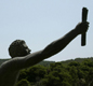 A modern statue of Pheidippides. He ran from Marathon to Athens in 490 BC to tell of the Greeks� victory over the Persians.