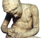 Roman, 1st century AD (Copy of a Hellenistic Greek original of the 3rd century BC)This figure type, known as the spinario or thorn-puller.