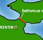 The Isthmus of Corinth was used by the Ancient Greeks as an overland short-cut for their ships.
