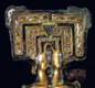 This brooch was found in a grave.  The richer the person, the finer the treasures buried with them.