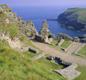 Tintagel Castle in Cornwall is a famous 'King Arthur Site'. Some people think Arthur was born here or had a fort here. No one really knows.