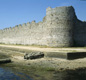 The Roman walls of Portchester Castle in Hampshire. This was one of the 'shore forts' the Romans built to defend Britain's coast against invaders.