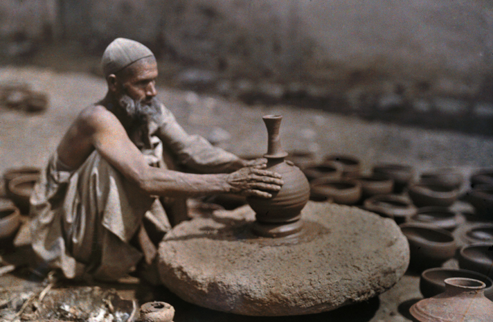 indus valley potters shaped clay pots on a wheel like this one used by an