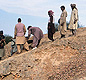 Archaeologists at work on the site at the city of Harappa. <!-- Copyright Omar Khan/Harappa.com -->