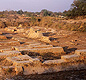 The ruins of the mysterious building known as the Granary.  The purpose of this building is still unknown. <!-- Copyright Omar Khan/Harappa.com -->
