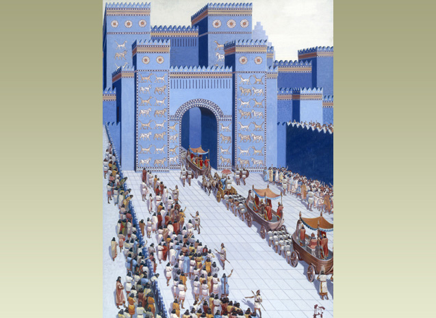 ... into Babylon. Indus traders came to this great city in Mesopotamia