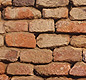 This is a section of mud-brick wall from the Indus city of Harappa. <!-- Copyright J.M. Kenoyer/Harappa.com, Courtesy Dept. of Archaeology and Museums, Govt. of Pakistan -->