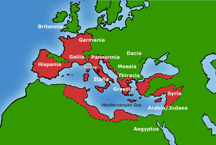 Ancient Roman Empire Cities Map a Map of The Roman Empire