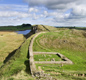 Remains of a 'mile castle' on Hadrian's Wall. The Romans built 80 of these little forts along the Wall, one every Roman mile (about 1480 metres).
