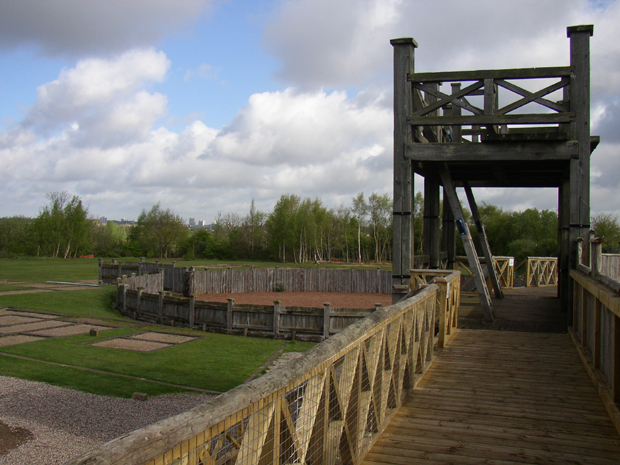 Bbc primary history romans roman defence of britain for Old wooden forts