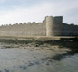 Portchester Castle today. Inside the Roman walls is a later castle built by the Normans. 