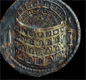 This brass coin, from the time of Emperor Titus, has a picture of the Colosseum in Rome. Titus opened the Colosseum in A.D. 80.