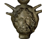 A clay head of the god Jupiter. Romans called Jupiter the 'Best and Greatest'.