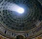 The Pantheon in Rome had the biggest dome in the world, 43 m (141 ft) across. It was a temple and is now a Christian church