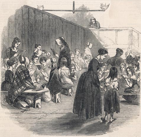 Ragged school for girls girls and boys were usually taught