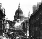 Victorian London was the world's biggest city. This is Fleet Street in 1894. Horses had not yet been replaced by cars.