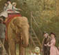 A ride on an elephant at London Zoo.   Seeing  live 'wild animals'  at the zoo was a thrill for children.