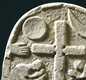 Lindisfarne Priory - reverse of a C9th Viking grave marker, possibly referring to the Day of Judgement.