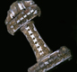 The hilt is all that's left of this sword, found in a pre-Christian burial mound in the Hebrides (Scotland). It probably belonged to an important leader.