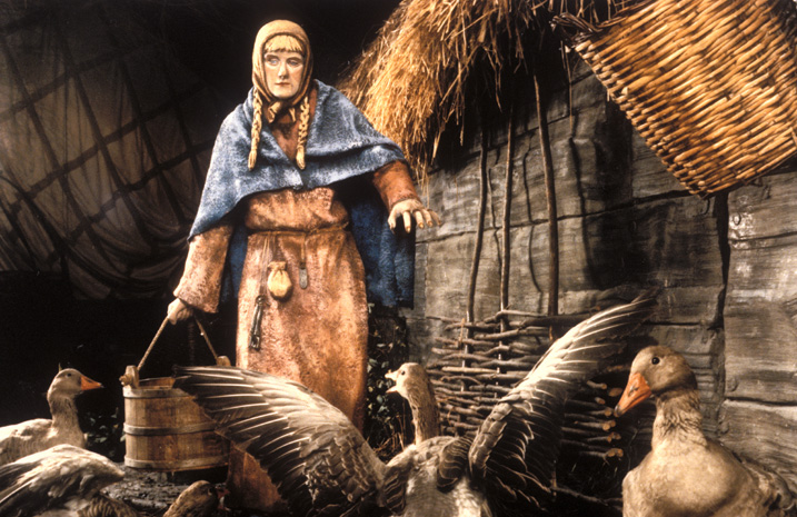 Image of Viking woman and housework