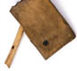 Vikings enjoyed music. These are panpipes (biggest object), a bone whistle, the bridge from a lyre, and a tuning peg to tighten the strings of an instrument.
