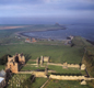 Lindisfarne - a famous Viking raid took place on the Christian monastery here in C8th.