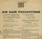 A public notice providing information about local Air Raid precautions, such as wardens and gas masks etc.