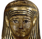 This is the mummy mask of Hornedjitef, who was a priest at the Temple of Amun at Karnek. The mask is not a picture of Hornedjotef in life but shows him as a god in the afterlife. [© Trustees of the British Museum]