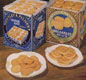 An advert for Huntley and Palmer's breakfast biscuits.