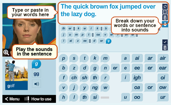 Guide to the Phonics tool