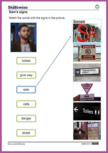 Sam's signs activity