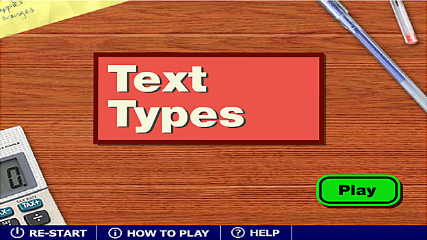 Click to play 'Text types game'