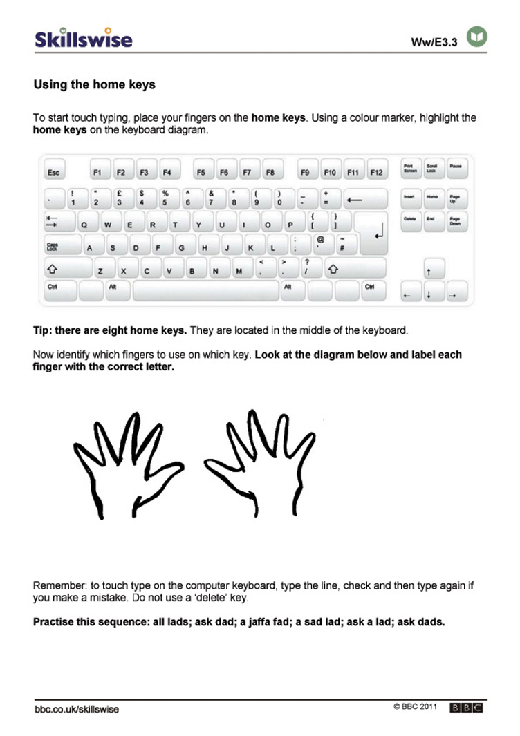 worksheet Keyboarding Worksheets en09typi e3 w using more keys 752x1065 jpg typing