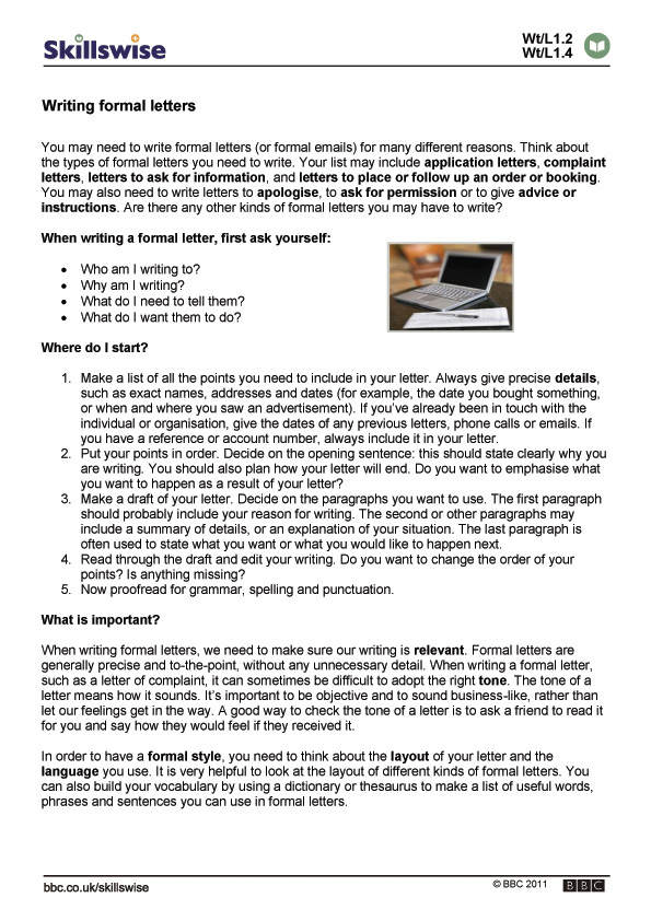 writing a letter - How To Start A Business Letter