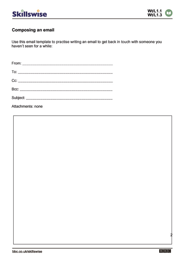 writing a business letter esl activities