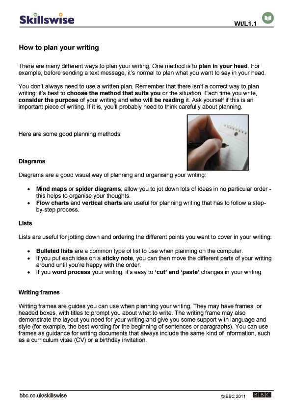 how to plan your writing planning your writing