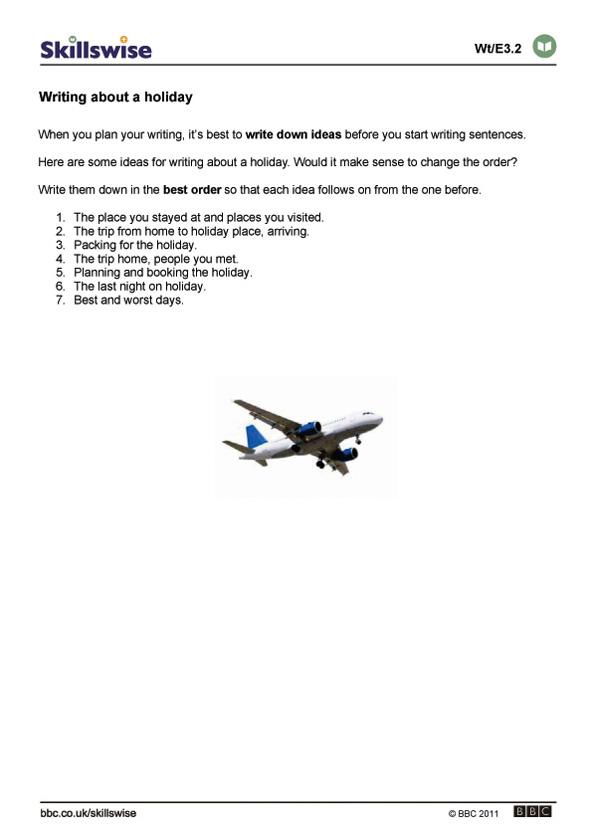 en14parae3wwritingaboutaholiday592x838jpg – Writing Paragraphs Worksheets