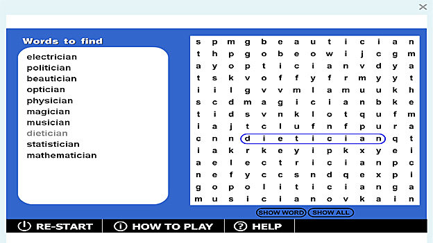 Wordsearch Cian Game