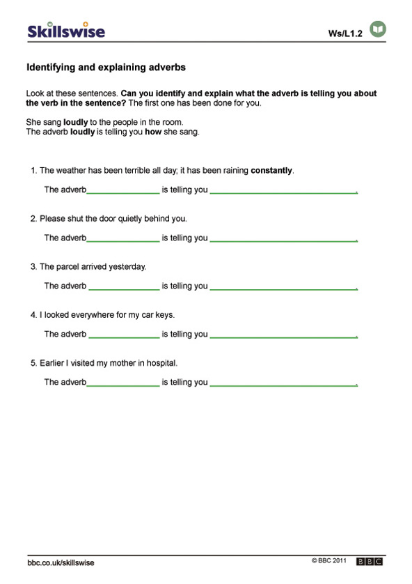 en26advel1wwhataretheseadverbsdoing592x838jpg – Adjective Adverb Worksheet