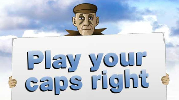 Click to play 'Play your caps right game'